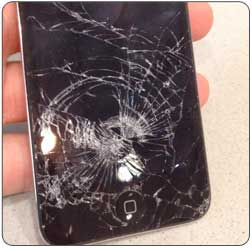 Cracked iPod Touch Example Glass