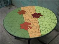 Mobiliario y ambientación con mosaico artístico