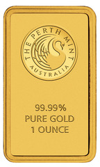 Gold 1 oz. Perth mint bullion bar