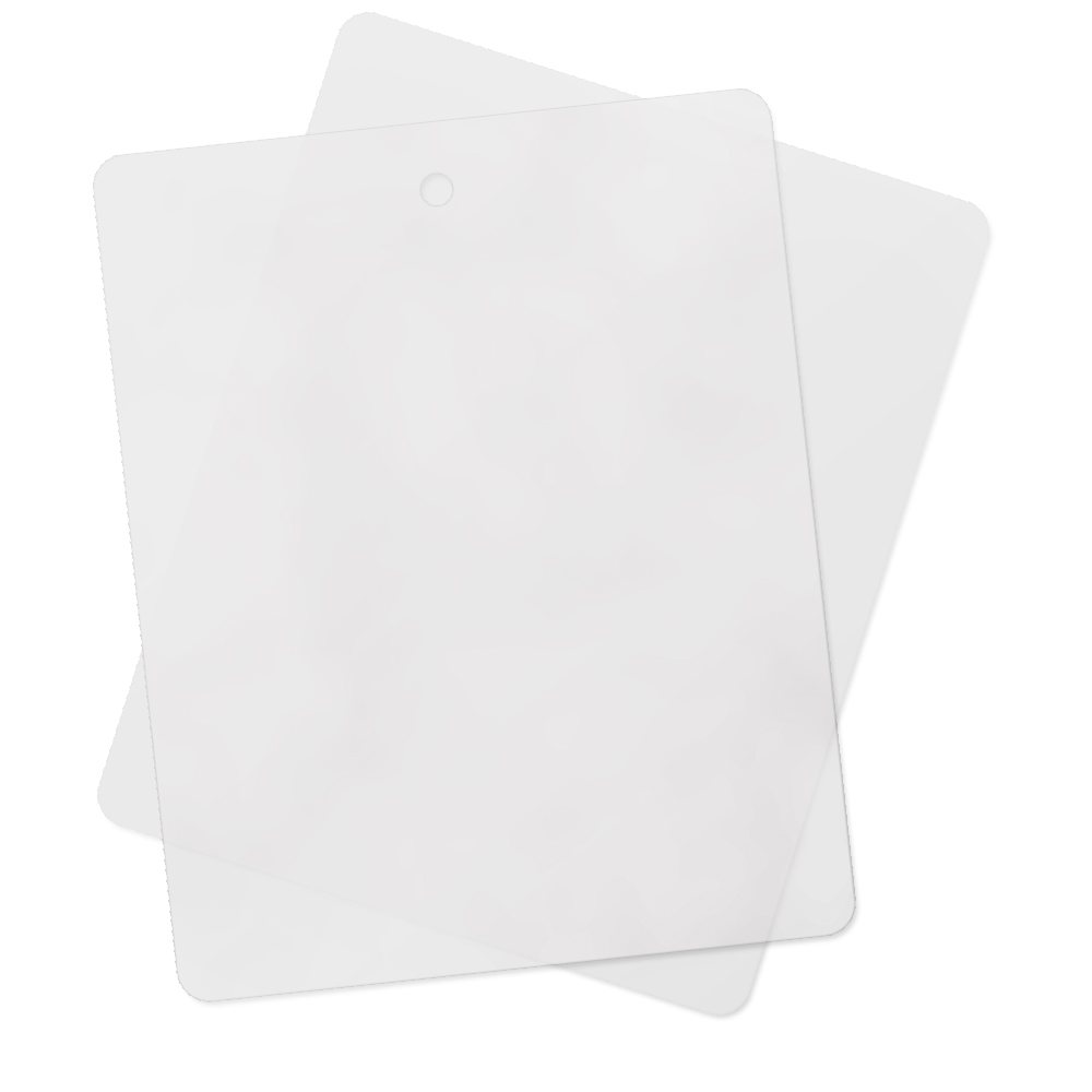 "2pc Flexible Plastic Cutting Board 12"" x 15"""