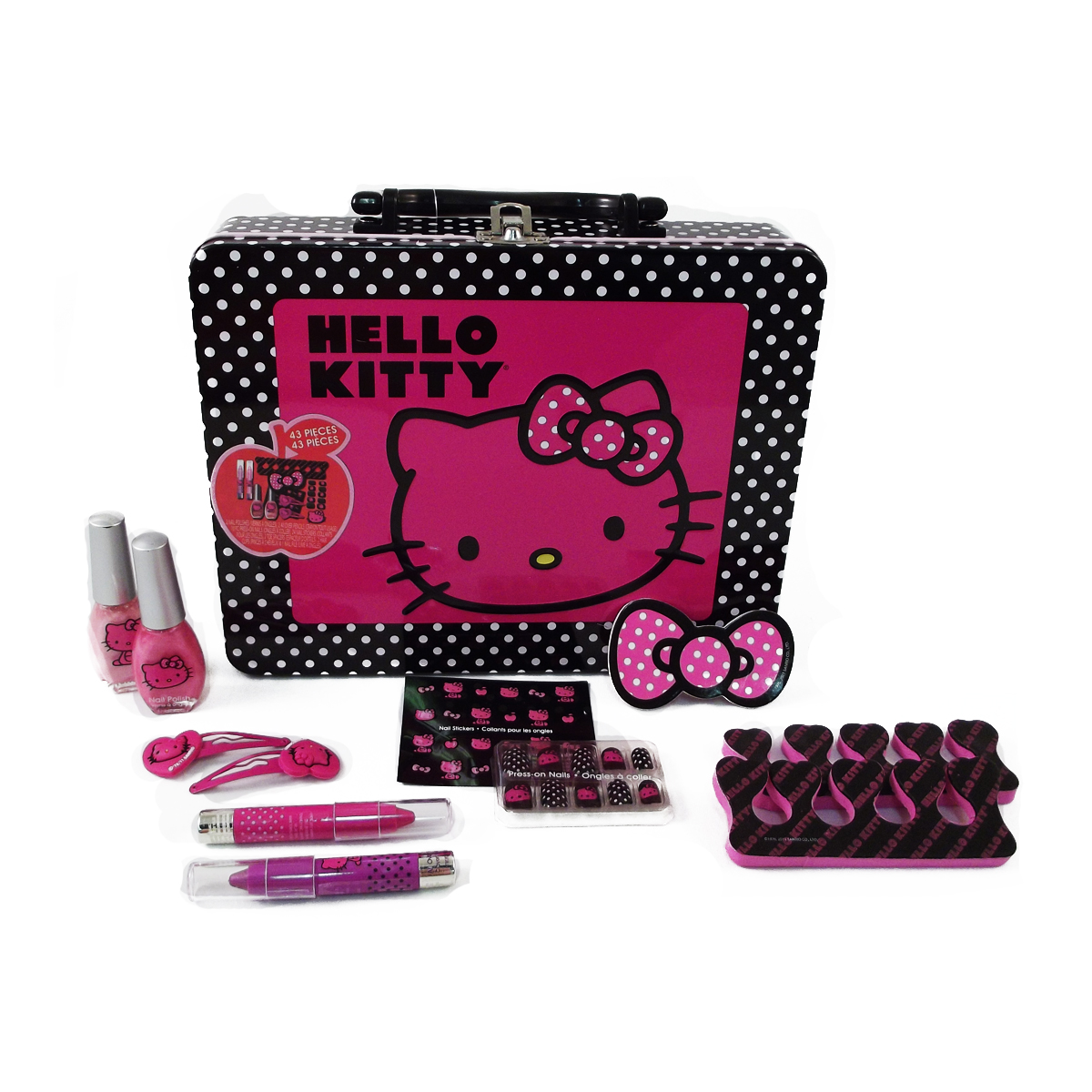 Sanrio Hello Kitty Tin Lunch Box Cosmetics Set 43 Pieces