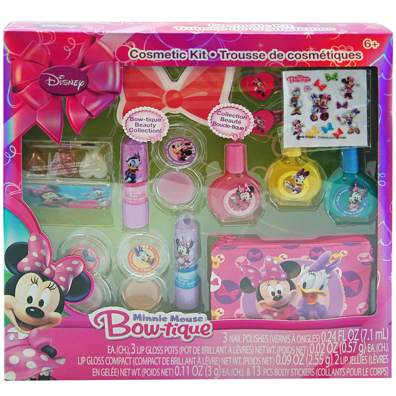 Disney 14pc Disney Minnie Mouse Girls Cosmetic Accessory Set at Sears.com