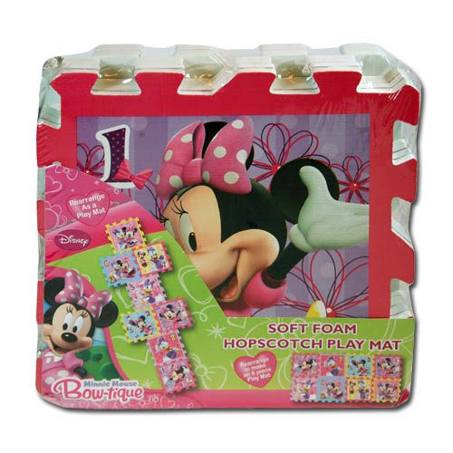 Disney 8 Piece Disney Minnie Mouse Bowtique Foam Hopscotch Puzzle Play Mat at Sears.com