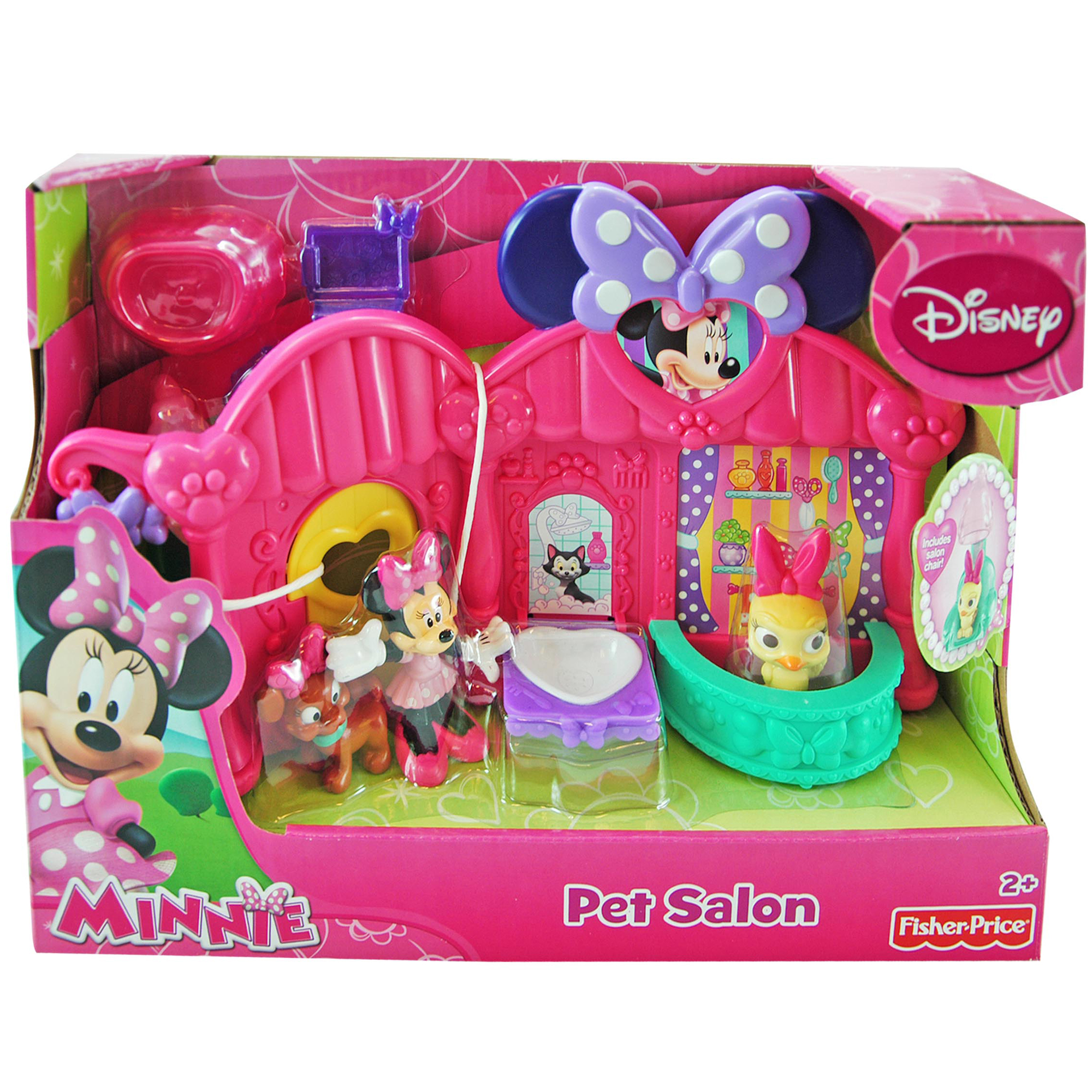 Disney 8pc Fisher Price Disney Minnie Mouse Bowtique Pet Animal Salon Set at Sears.com