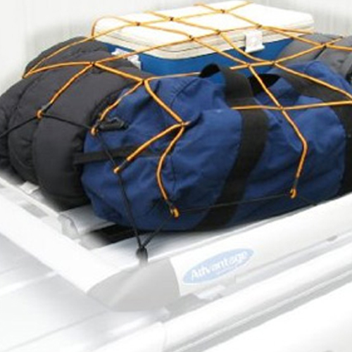 "Heininger HitchMate 48"" X 20"" Cargo Stretch Web and Bag with 12 Hooks"