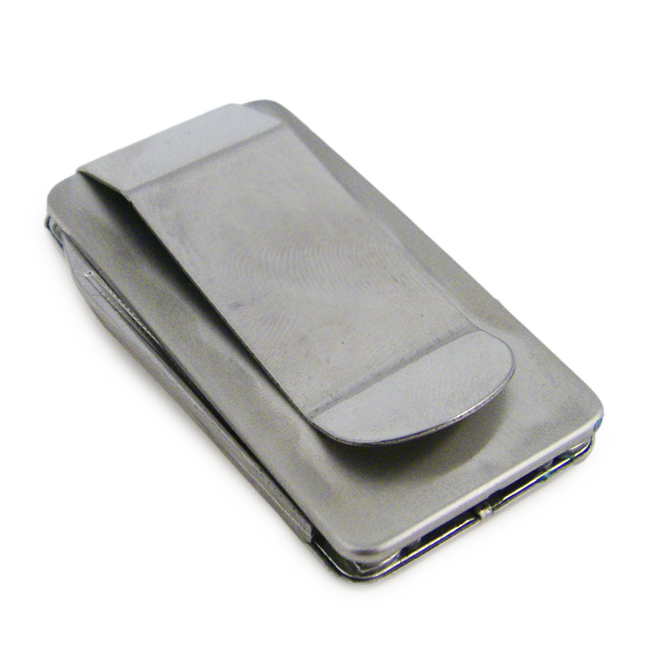 Elegant Multi-function Money Clip - Brushed Stainless Steel