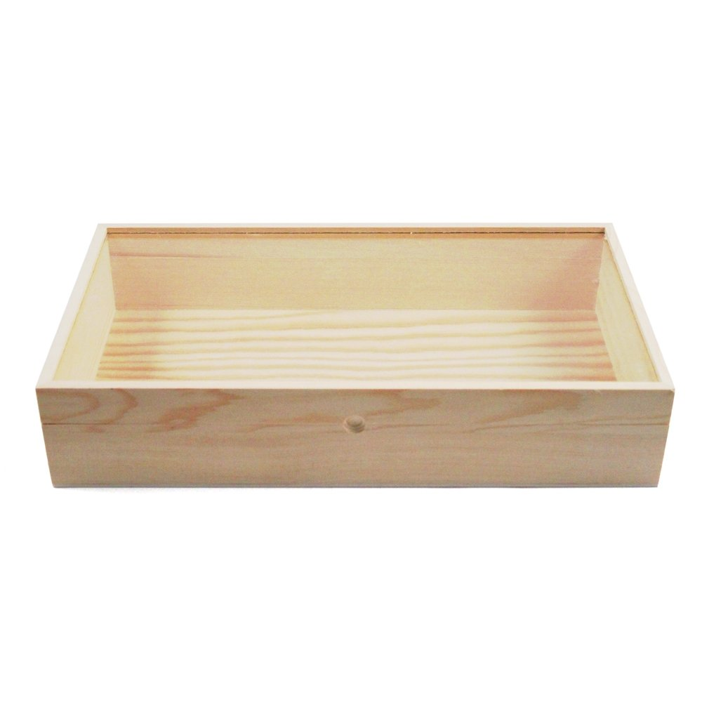 15 Quot Wooden Glass Top Jewelry Display Box Amp 32 Compartment