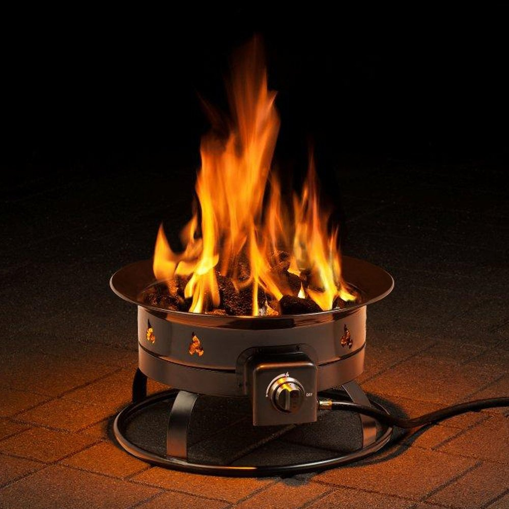 Portable Propane Fire Pit : Smokeless btu propane fire pit portable for outdoor