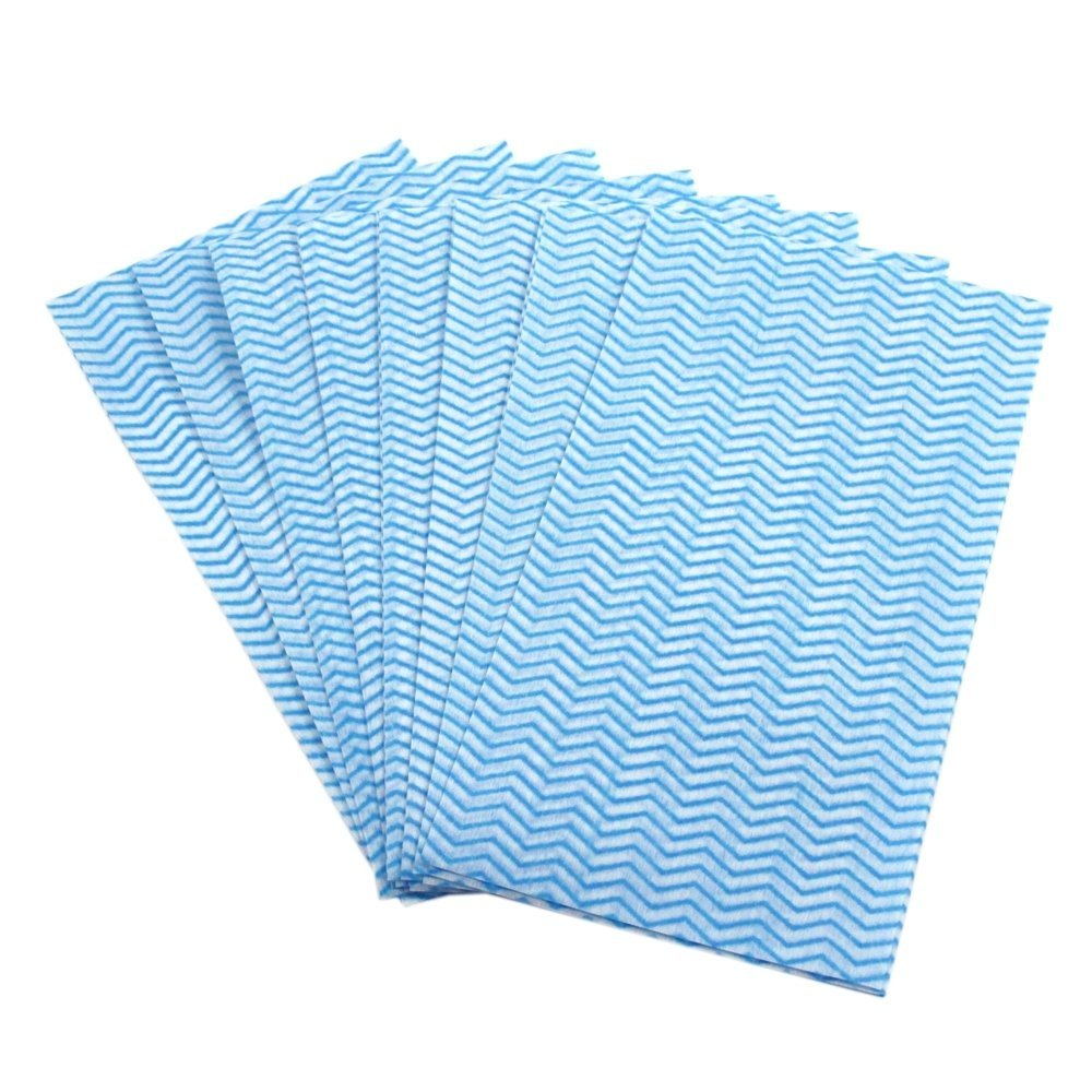 8pk Rayon Fiber Reusable Cleaning Cloth Wipes