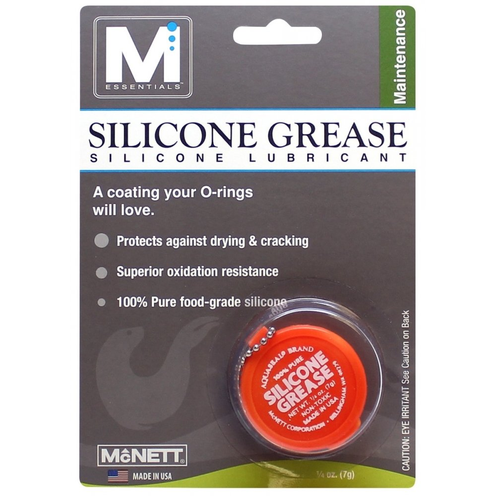 McNett M Essentials Silicone Grease - 1/4 oz Plastic, Metal and Rubber Lubricant