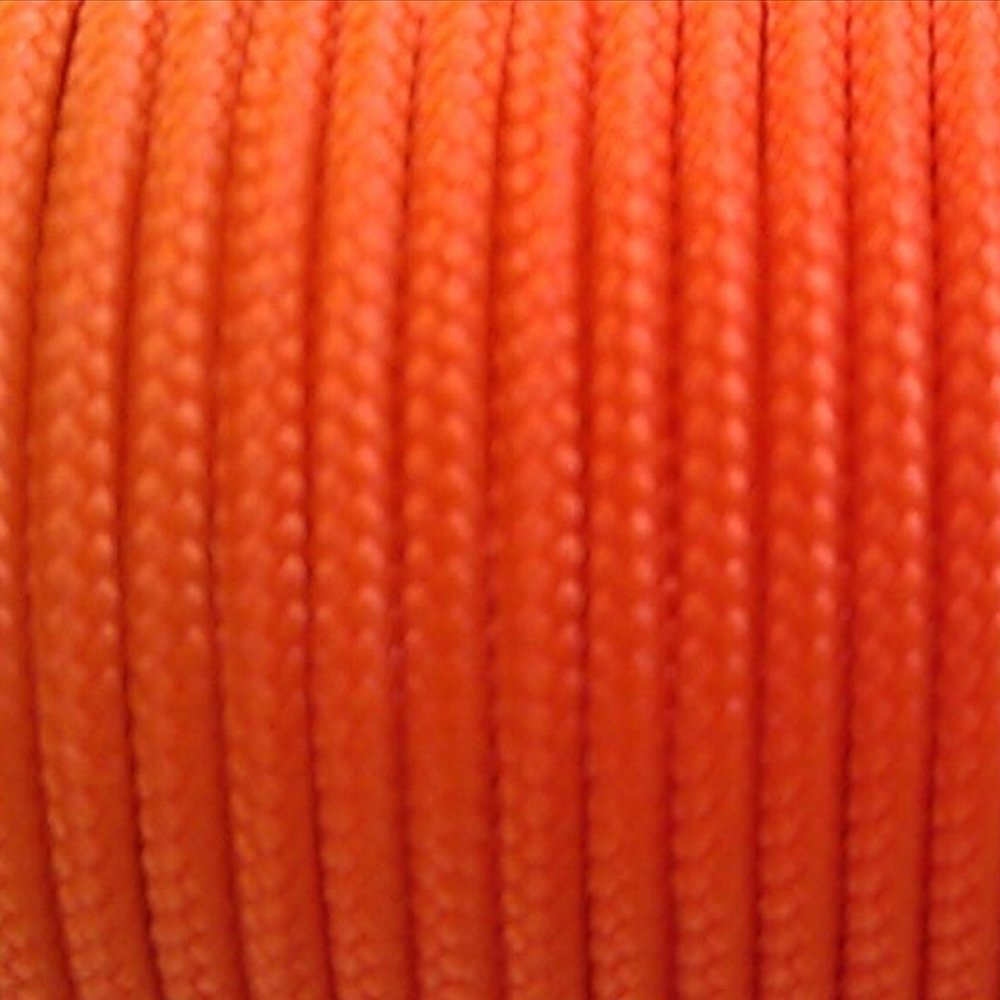 Sleeved Spectra Kevlar Cord - Orange 100ft 325lbs Strength