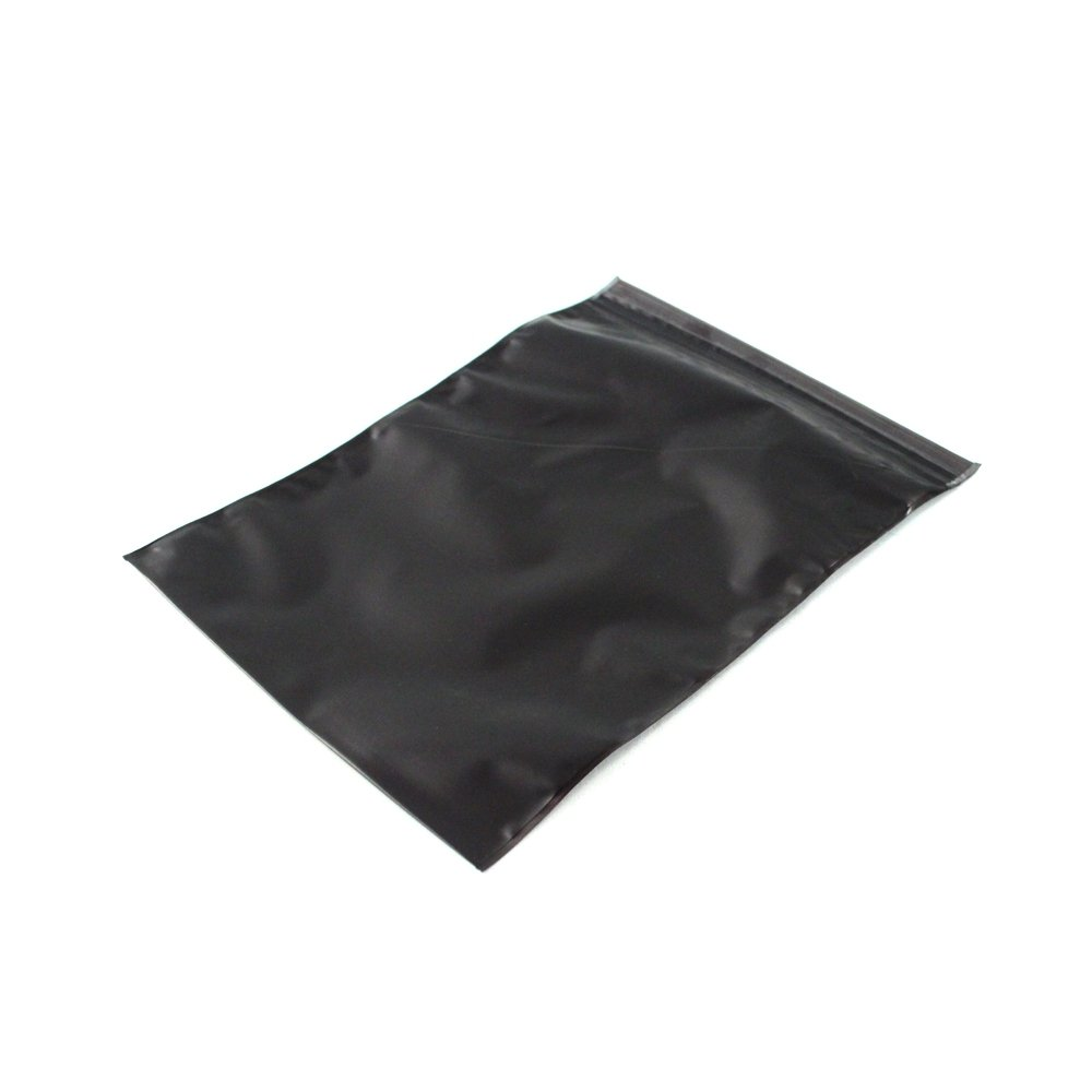 Static and Corrosion Resistant Zip Lock Bags - Black Large Size