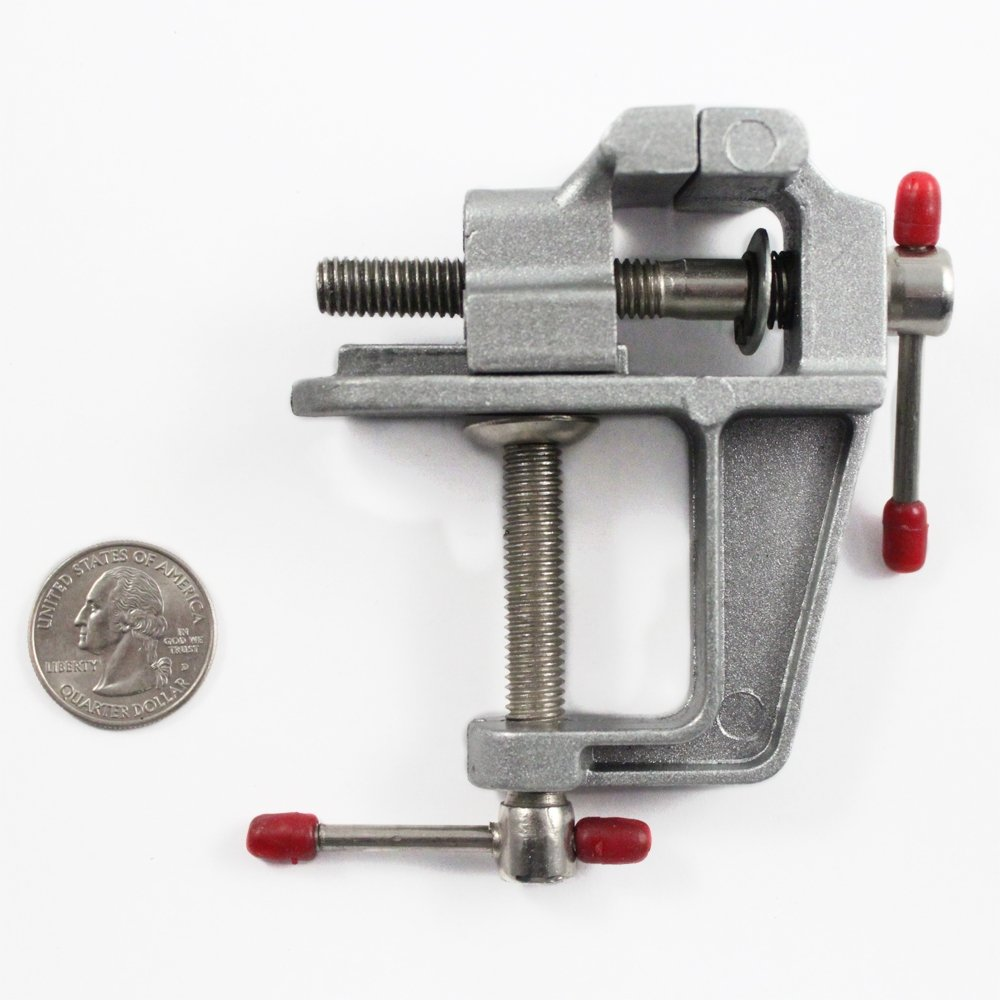 ".5"" Jaw Mini Table Vise w/ Clamp"
