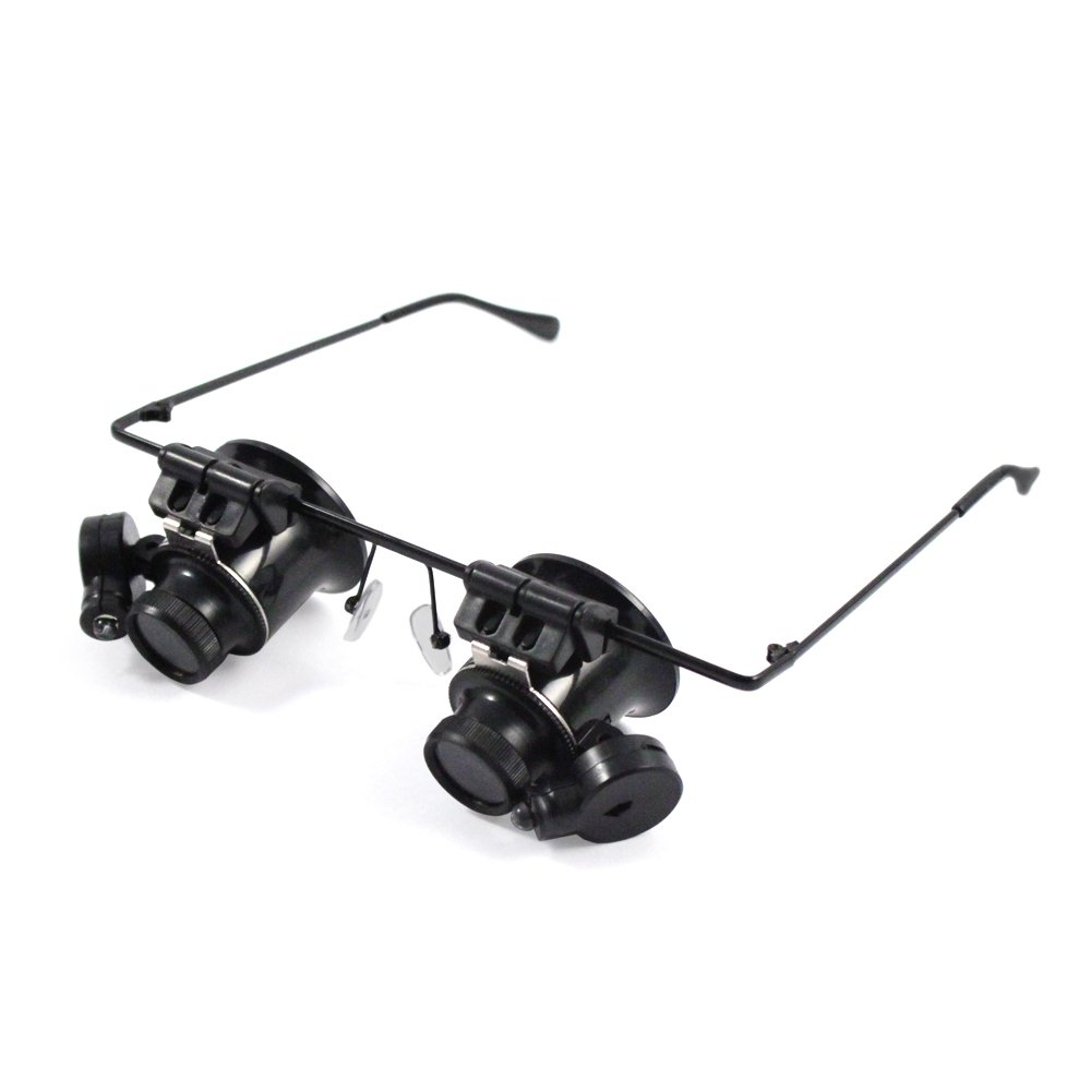 10X Illuminated Hands Free Double Eye Loupes