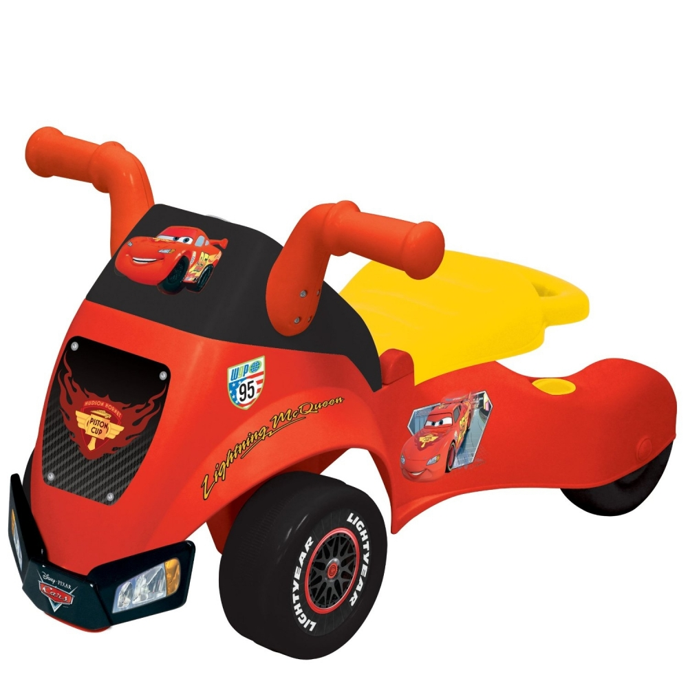 Disney Cars Lightning McQueen Kids 2 in 1 Ride on Toy Lights and Sounds at Sears.com