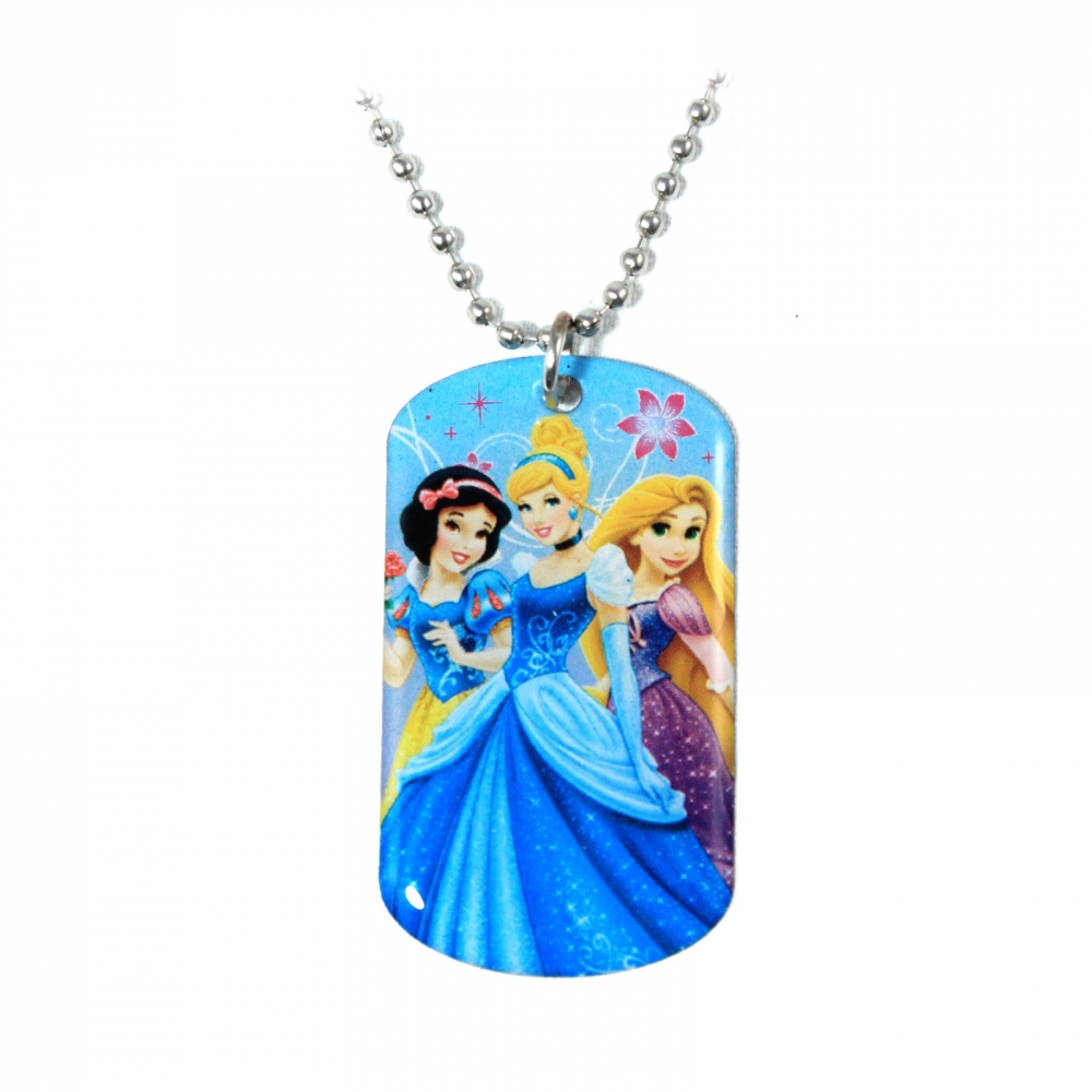 Disney Princess Girls Fashion Accessory Dog Tag Necklace (Blue) at Sears.com