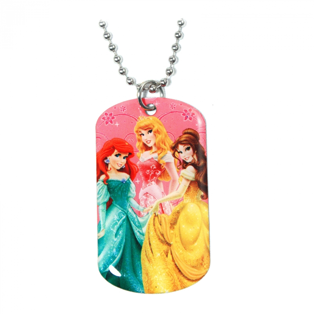 Disney Princess Girls Fashion Accessory Dog Tag Necklace (Pink) at Sears.com