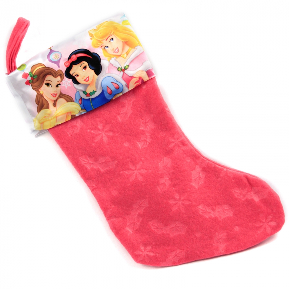 Disney Pink Disney Princess 18 Inch Christmas Stocking With Printed Satin Cuff at Sears.com