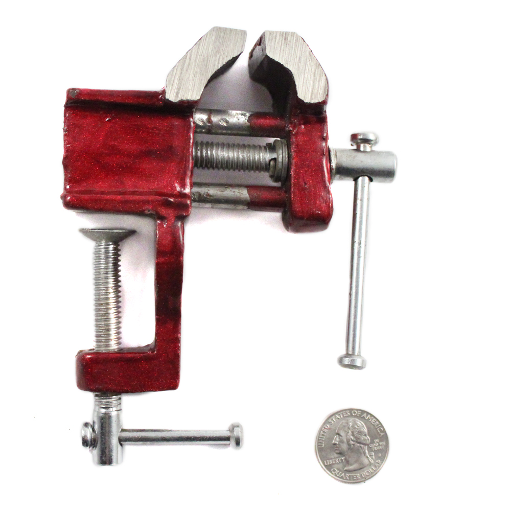 "1.5"" Jaw Mini Table Vise w/ Clamp"