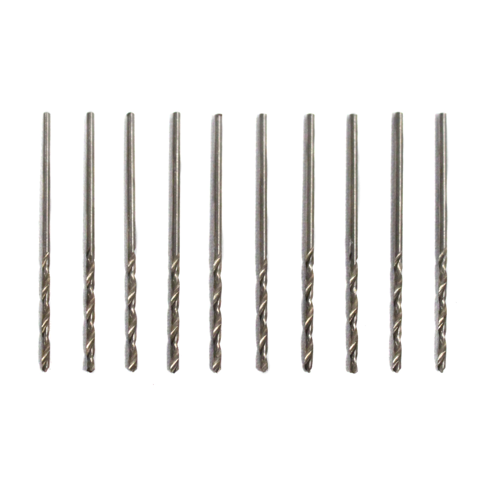 "10pc High Speed Steel #53 Drill Bits 1/16"" Shank"