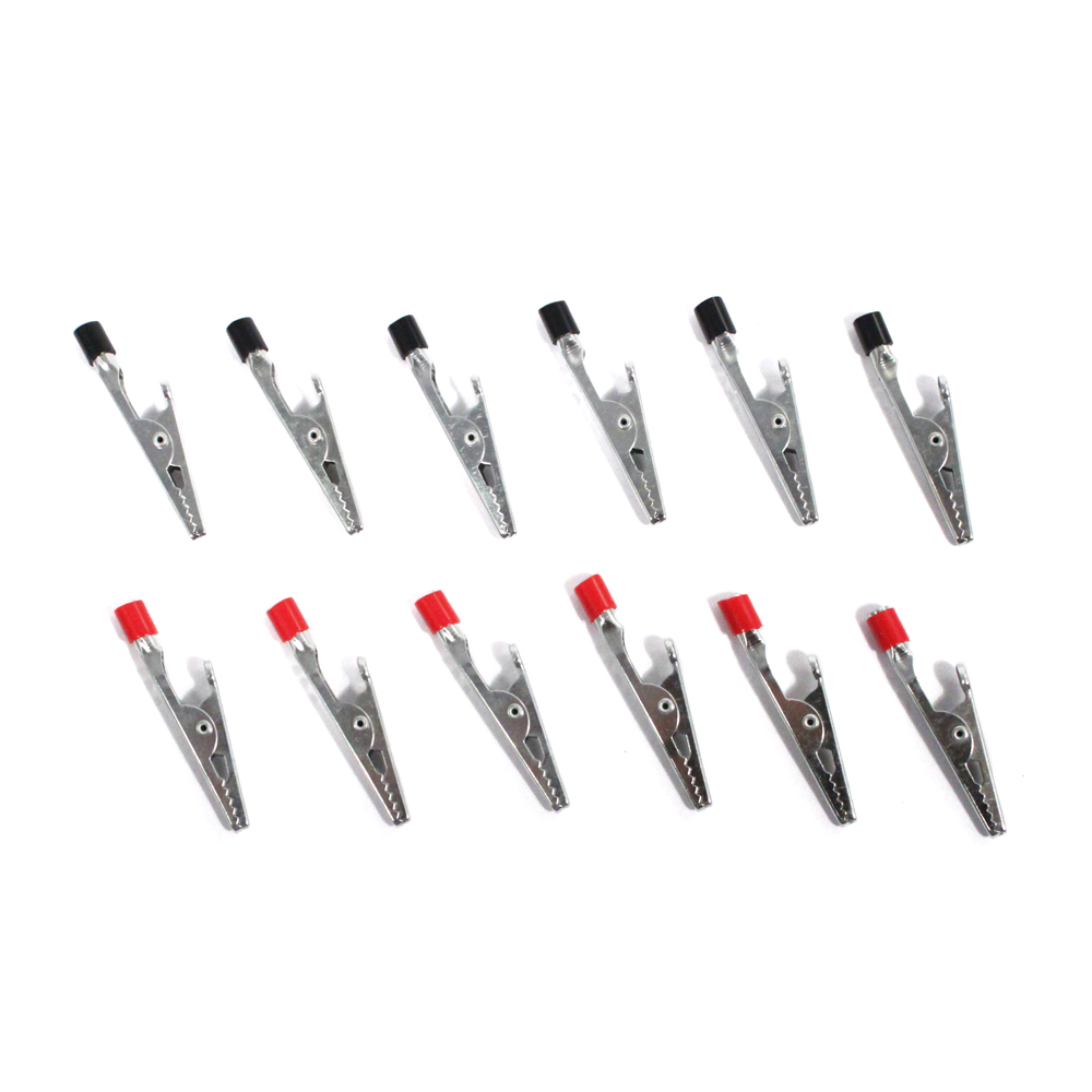 "12pc Mini 2"" Alligator Clip Set"