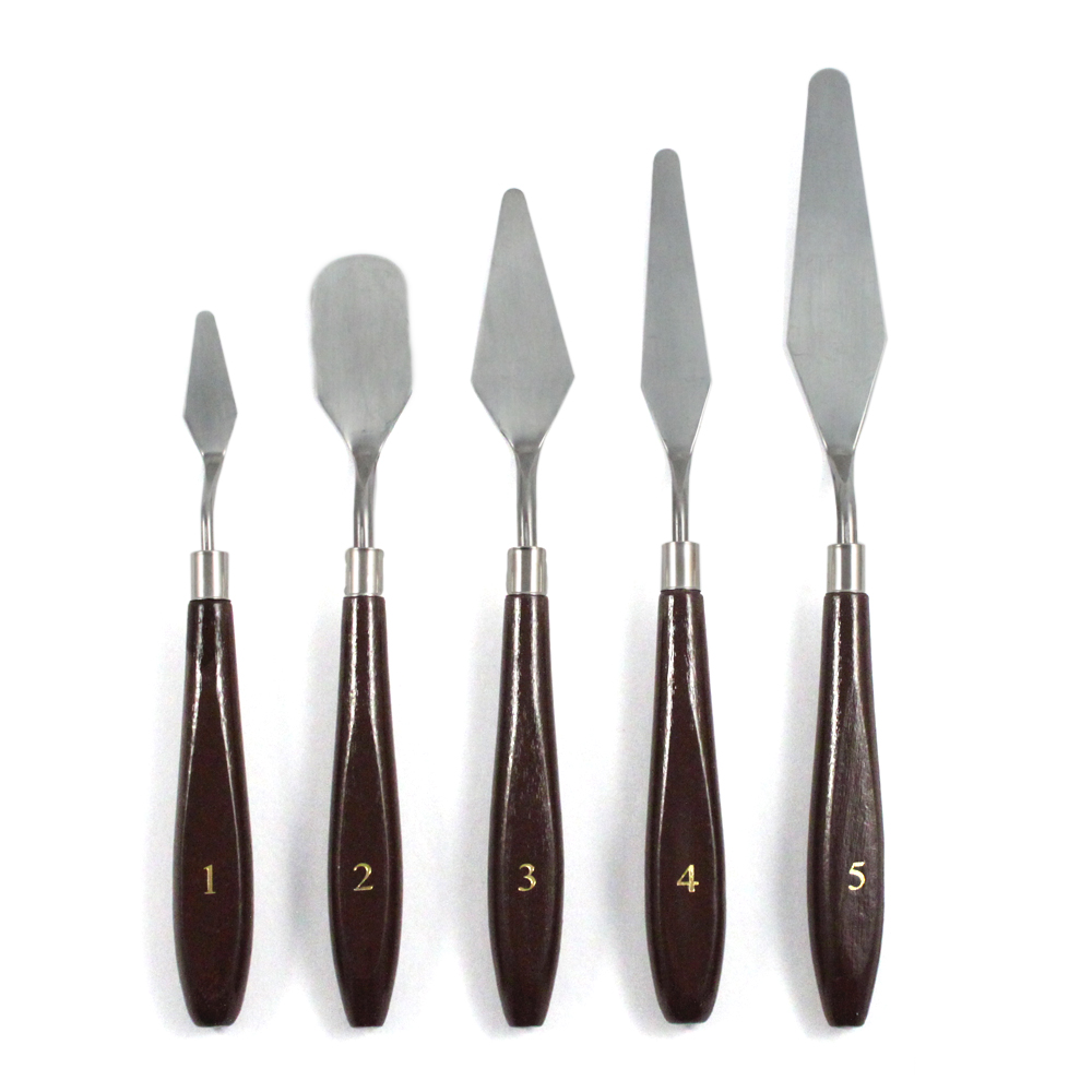 5pc Artists Spatula Assorted Sizes