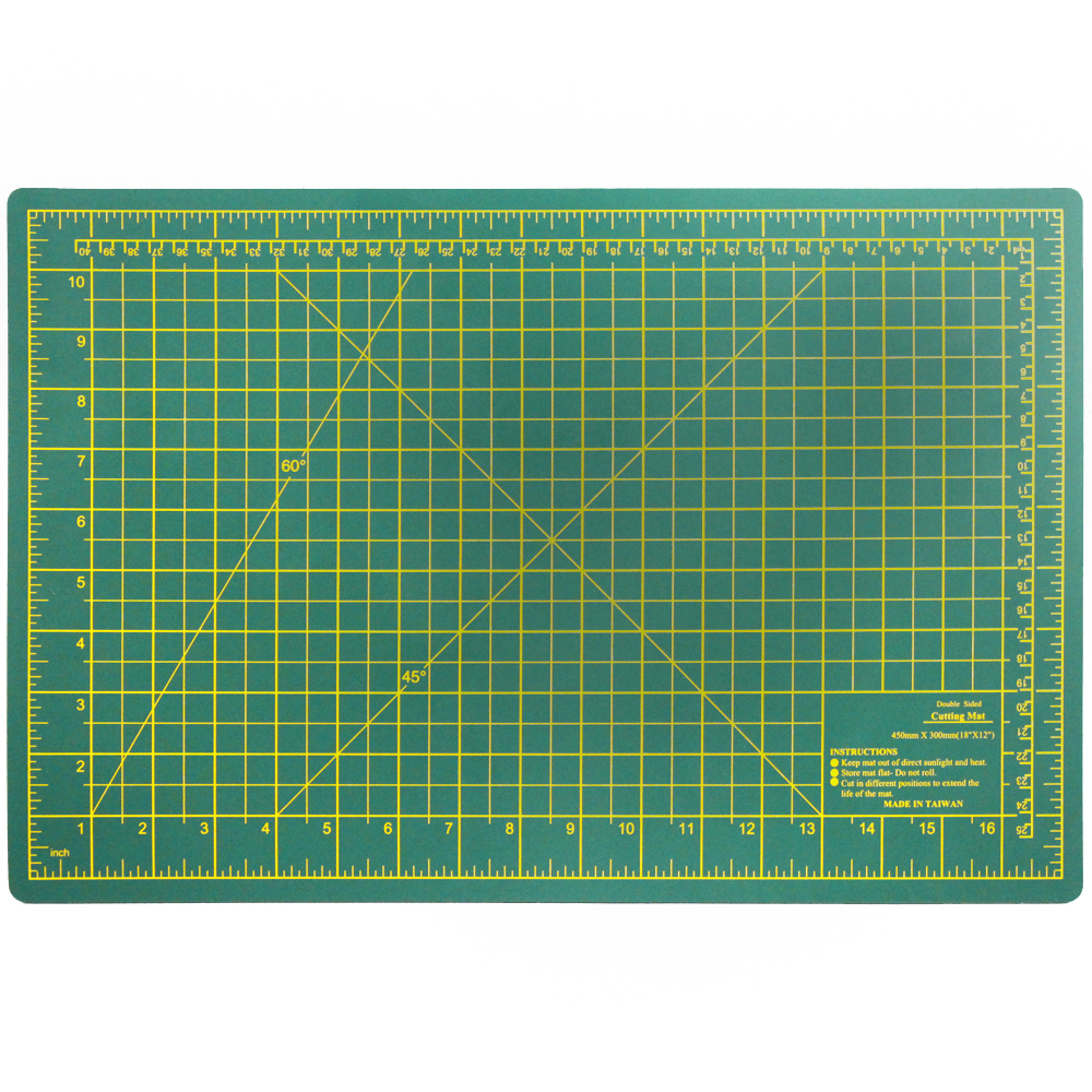 "18"" x 12"" Double Sided Self Healing Cutting Board"