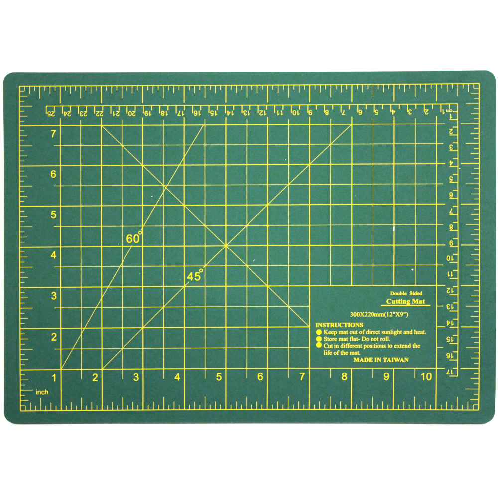 "12"" x 9"" Double Sided Self Healing Cutting Board"