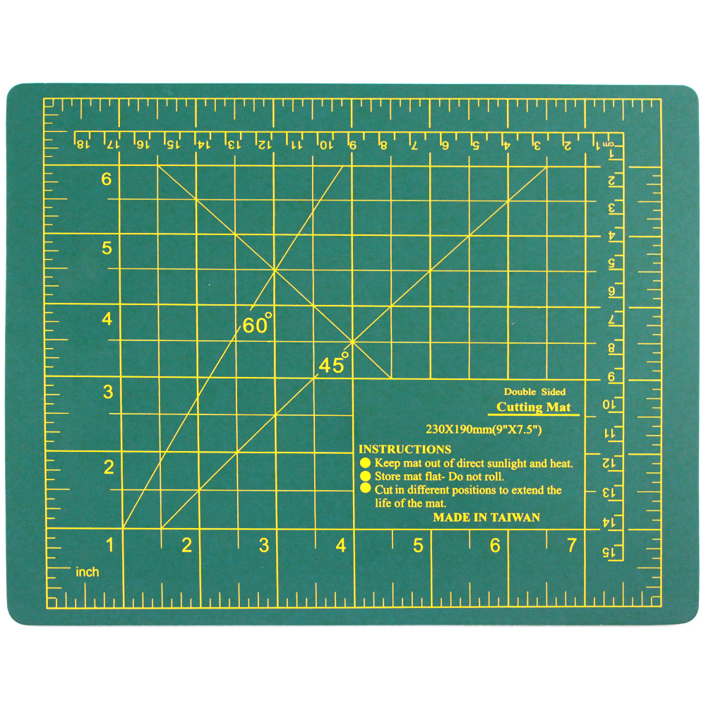 "9"" x 7.5"" Double Sided Self Healing Cutting Board"