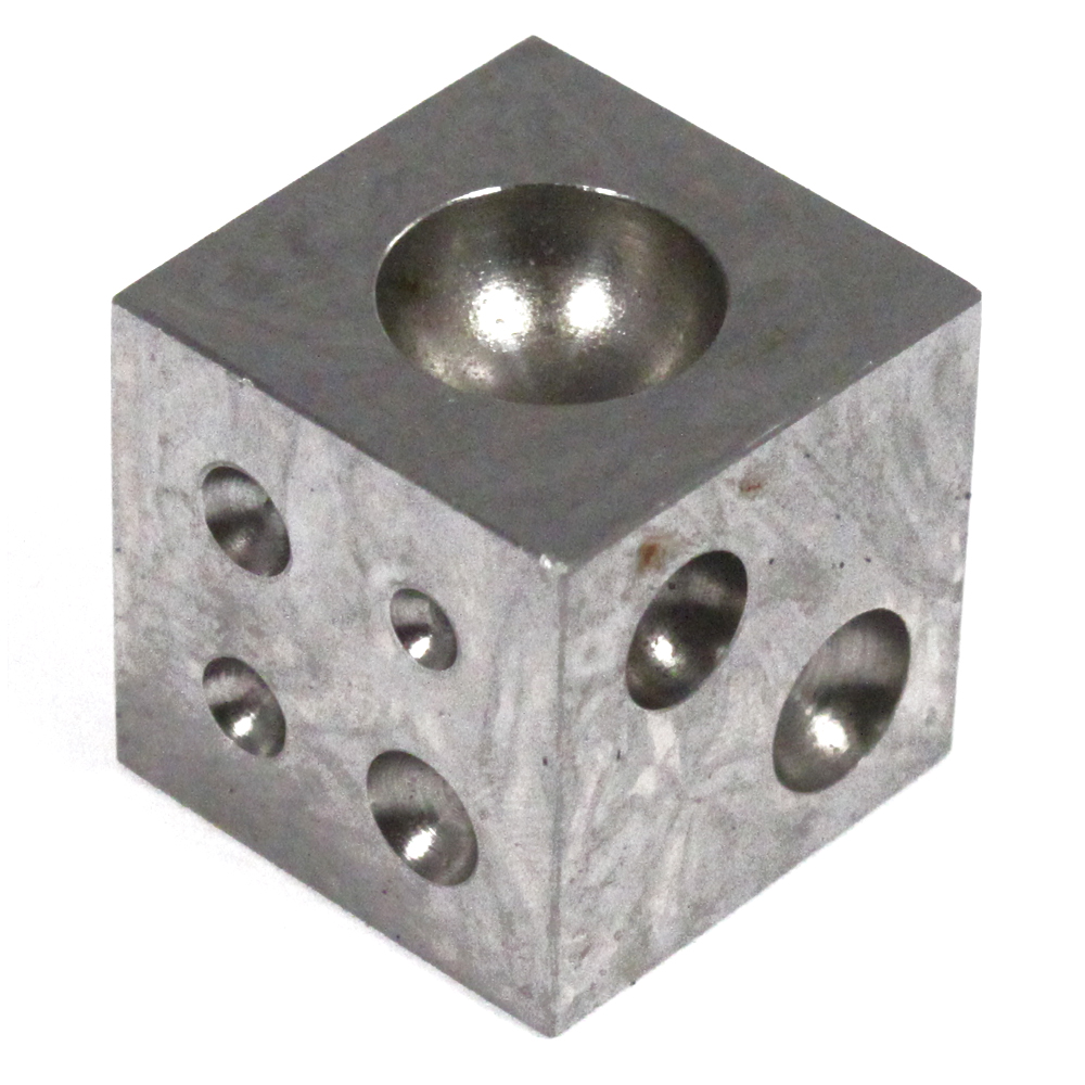 Carbon Steel Small Metalworking Dapping Block