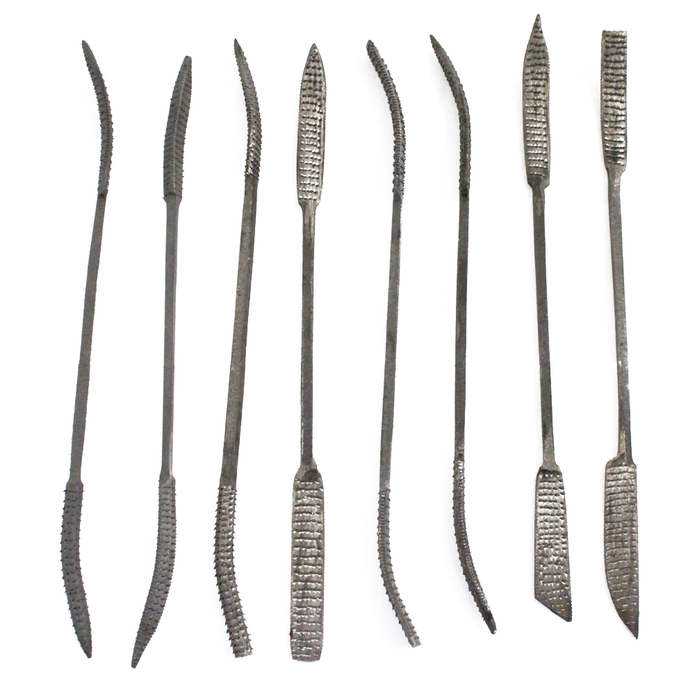 "8pc Wood Rasp 10"" Riffler File Set"