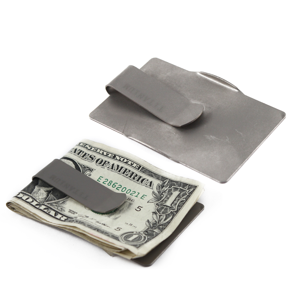 Universal Sleek Titanium Money Clip