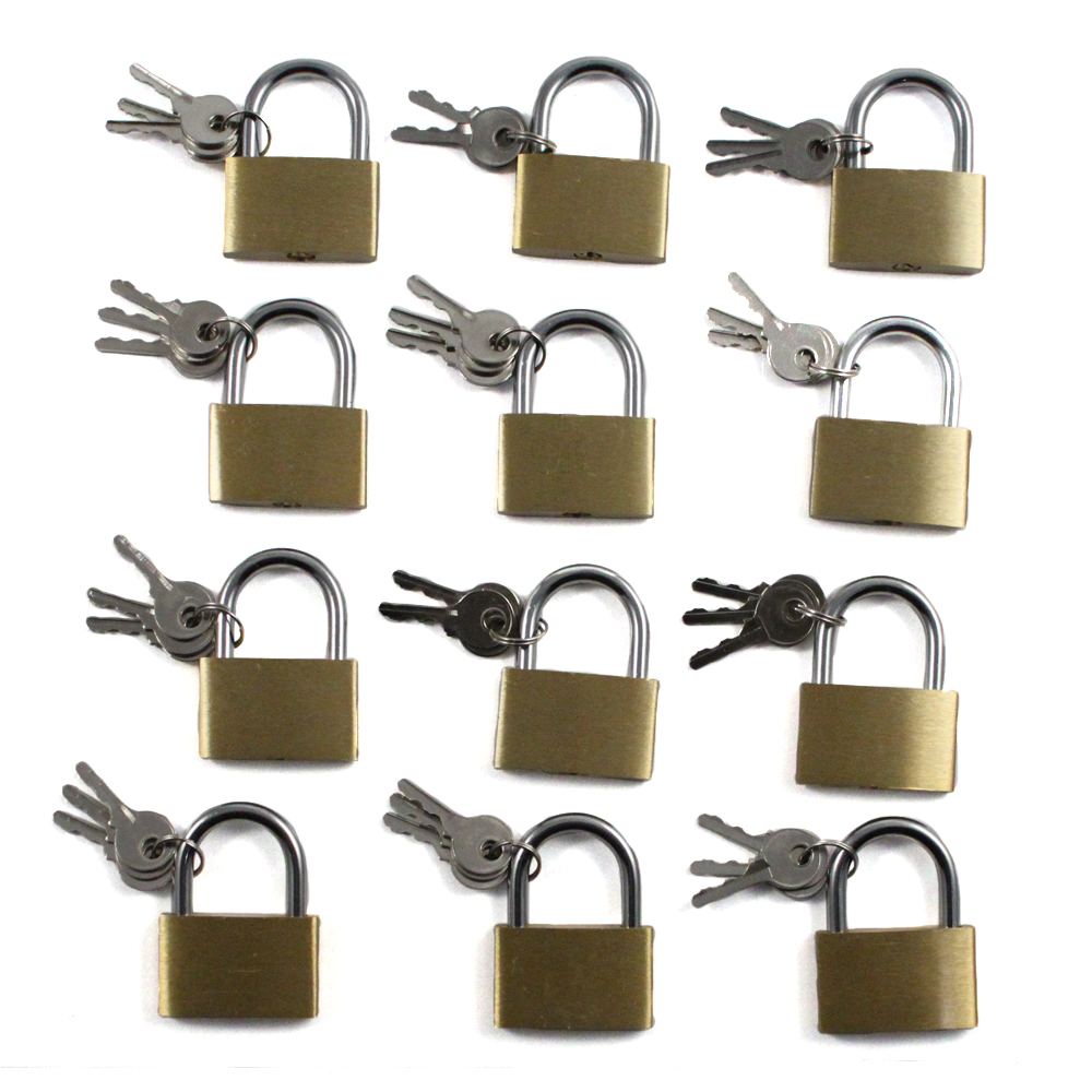 12pc Brass Padlock Set (40mm)