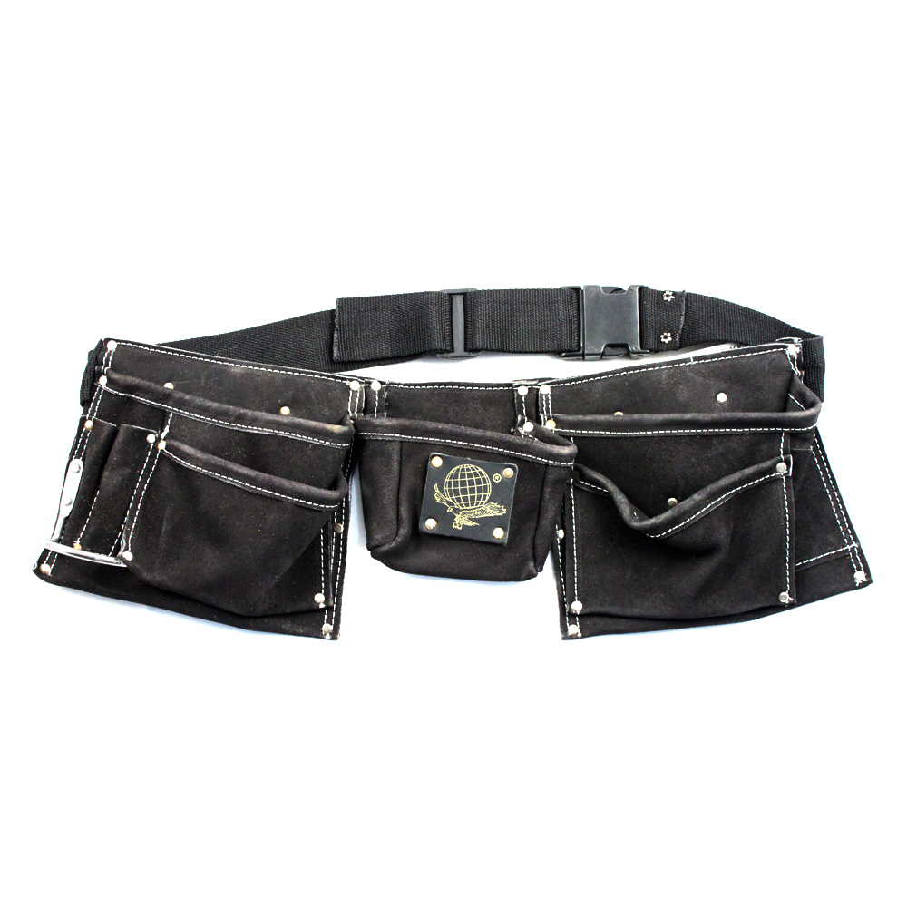 9 Pocket Heavy Duty Leather Tool Belt