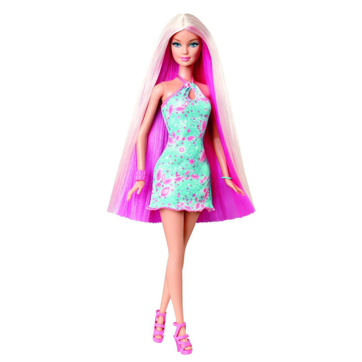 Barbie Hairtastic Doll (Pink Hair)