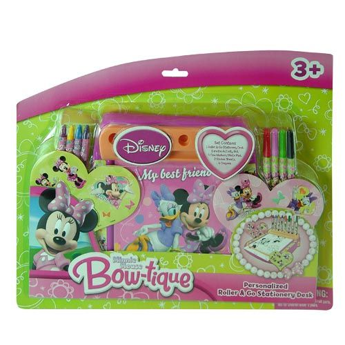 Disney 13pc Disney Minnie Mouse Roller & Go Coloring Activity Desk at Sears.com