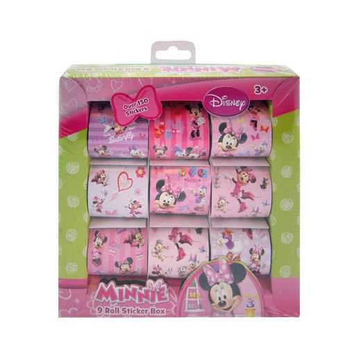 Disney Inc 150pc Disney Minnie Mouse 9 Roll Sticker Box Set at Sears.com