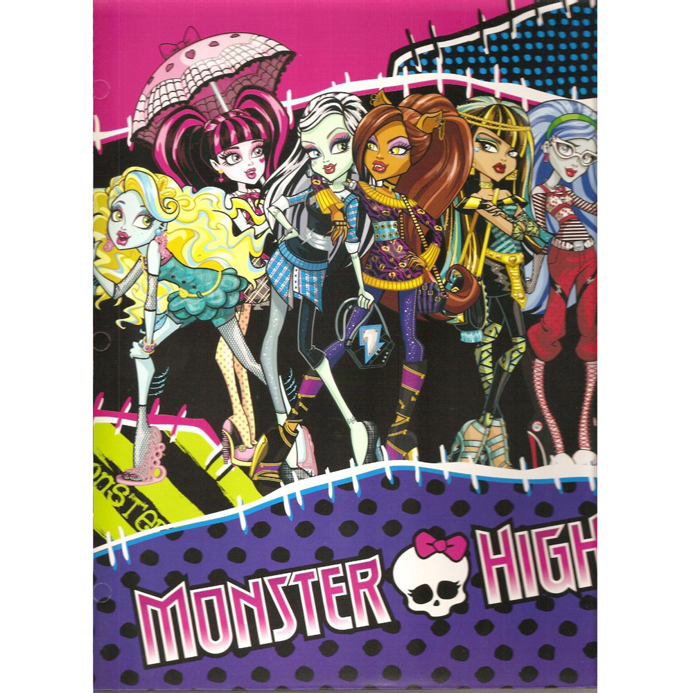 2pk Monster High Portfolio Folder 2 Pocket School Pee Chee Notebook ...
