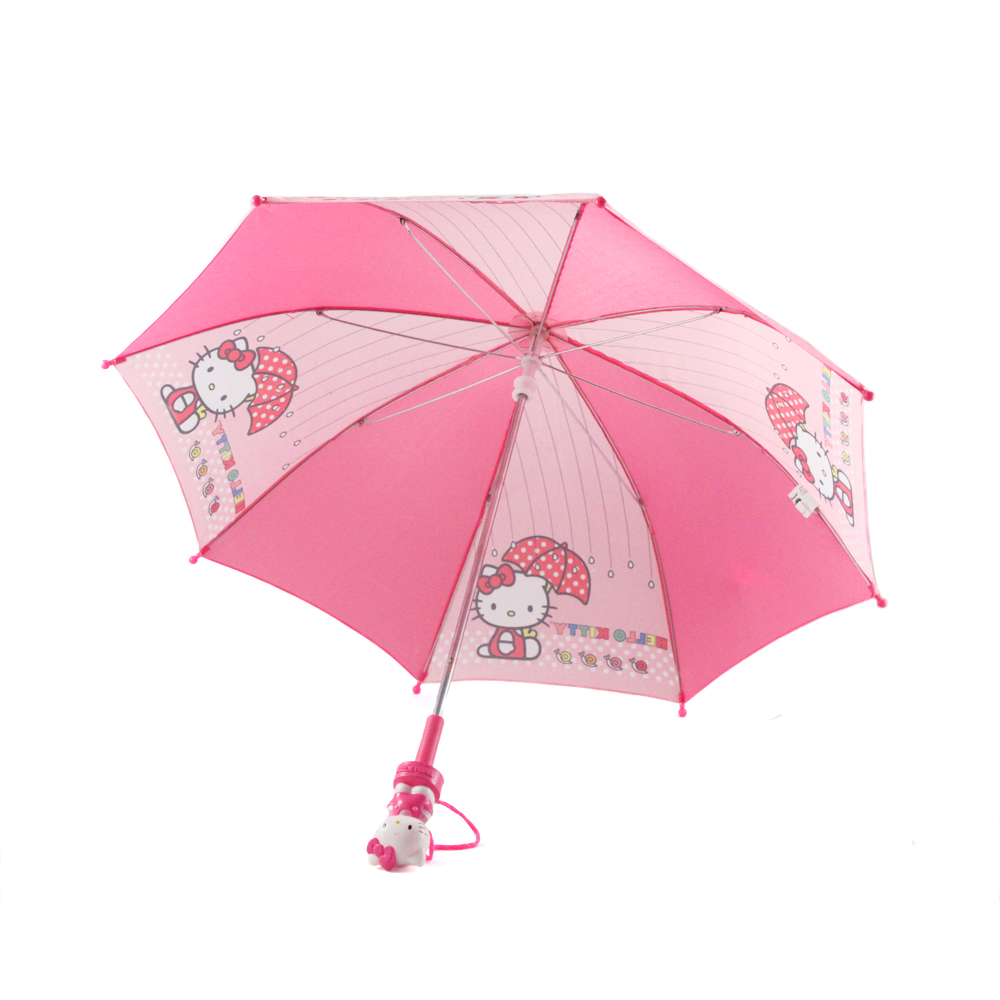 "Hello Kitty 32"" Pink Girls Umbrella w/ Molded Handle"