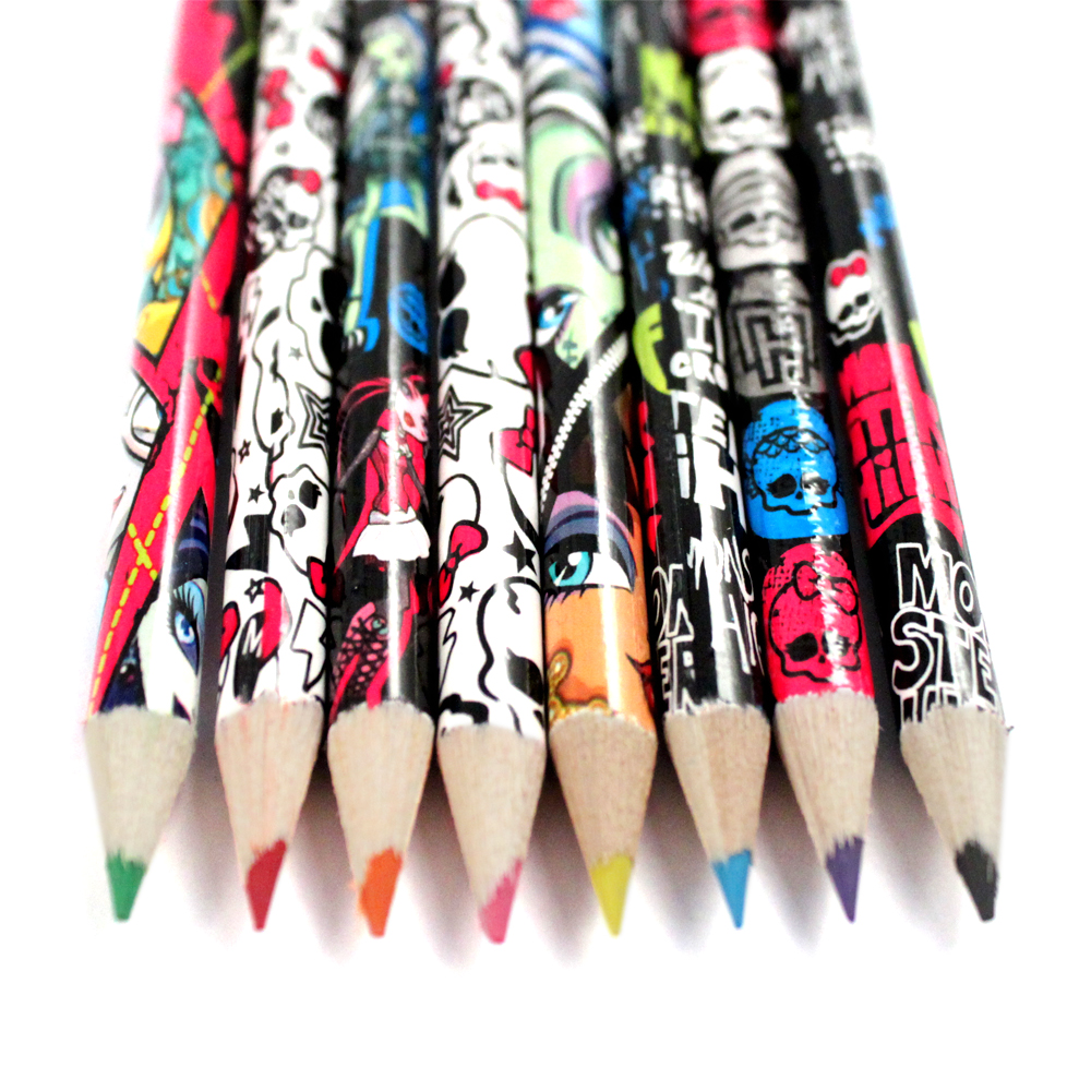 8pc Monster High Clawsome Colored Pencils