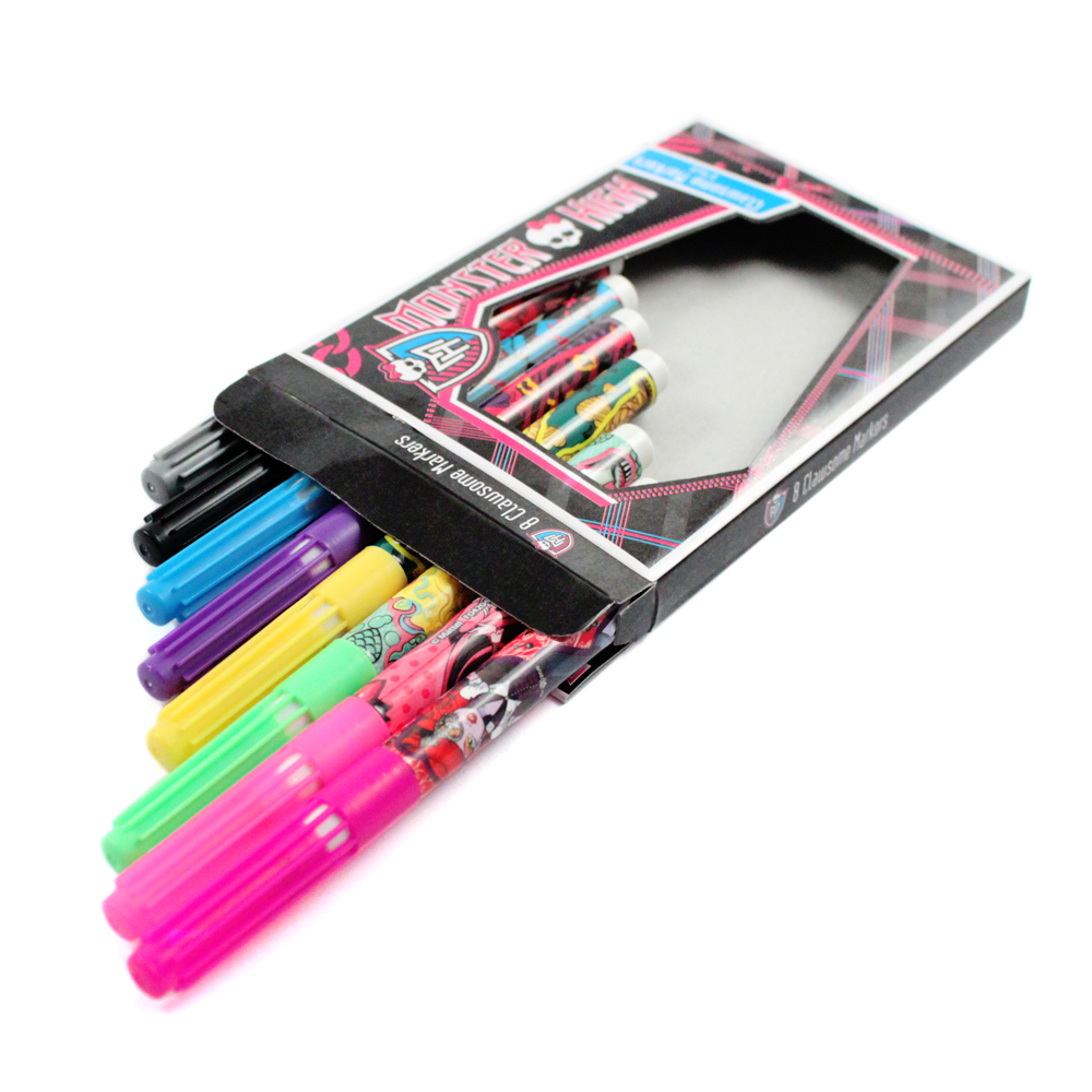 8pc Monster High Clawsome School Markers