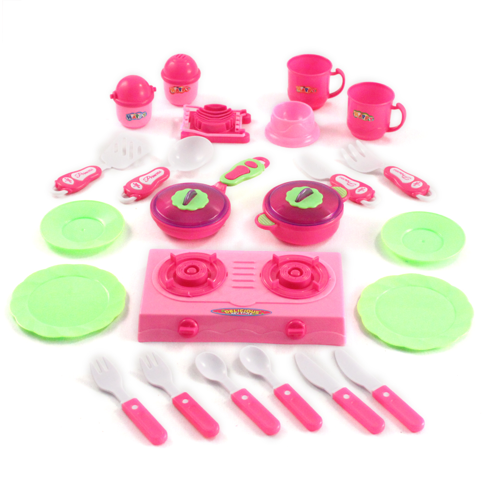 23pc Little Chef Pretend Play Kitchen Set
