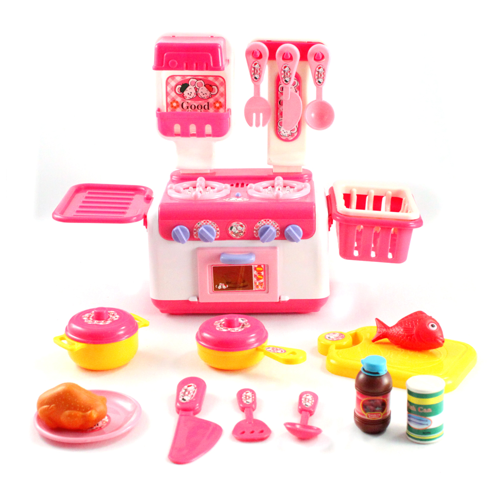 15pc Lights & Sounds Pretend Play Easy Bake Kitchen Set