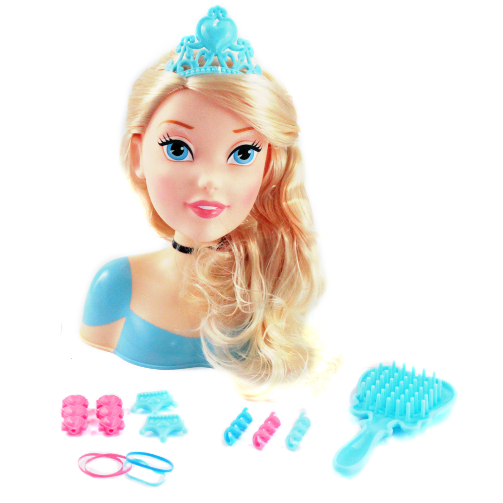... Princess Hair Accessory Styling Head Doll Play Set 3 Princesses eBay