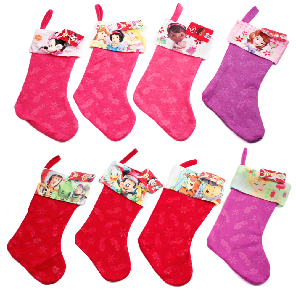 Disney characters quot felt christmas stocking printed