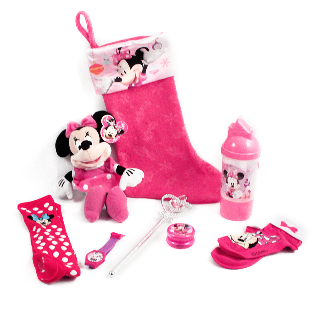Minnie Mouse Toys : Pc minnie mouse christmas stocking bundle disney holiday
