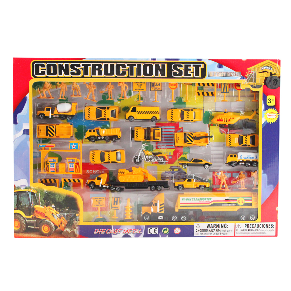 Construction Toys Product : Pc pretend play emergency vehicle construction team cars