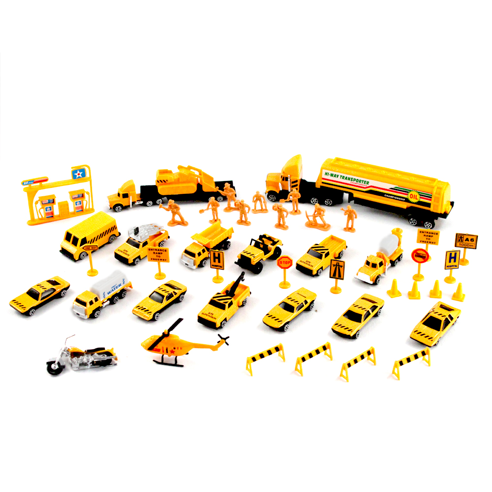 Toy Construction Trucks : Pc pretend play emergency vehicle construction team cars