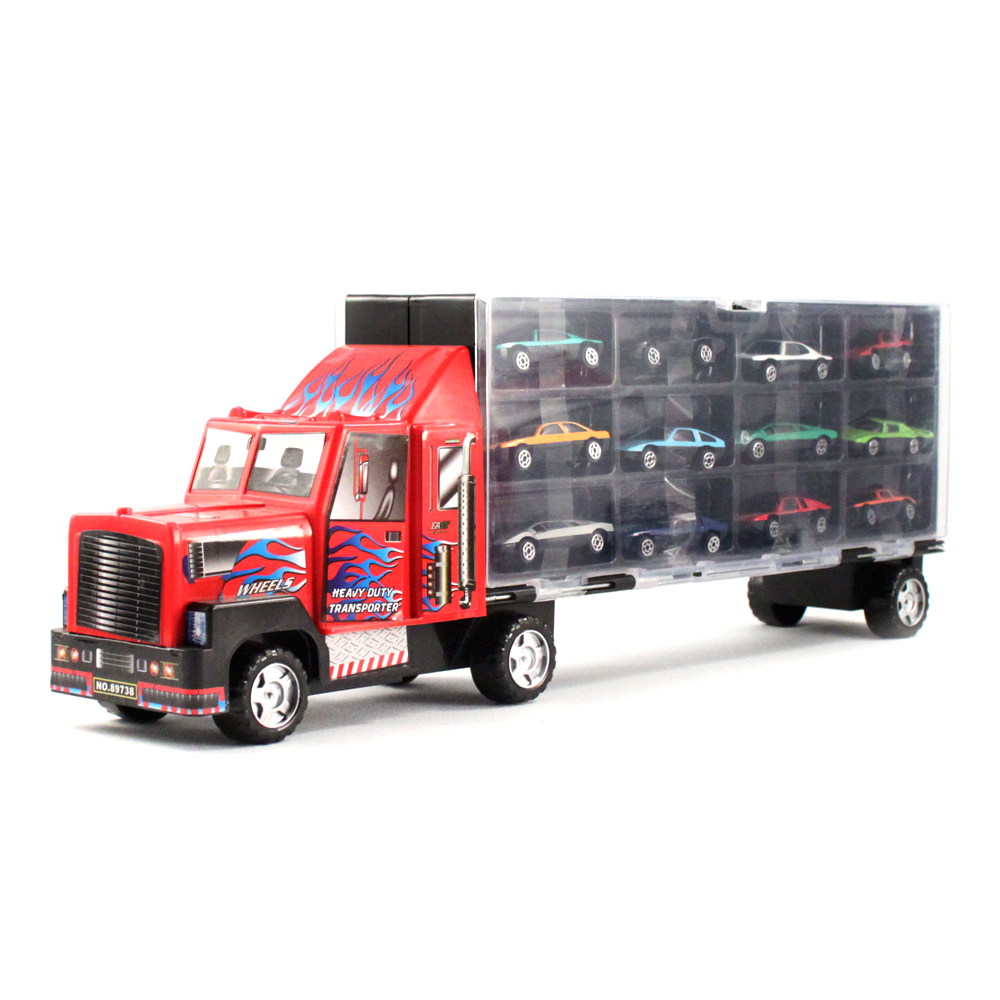 Toy Race Trucks : Pc thunder wheels semi truck toy vehicle race car