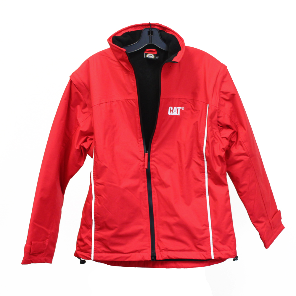 Officially Licensed CAT Caterpillar Jacket Waterproof Finetex Winter Coat (Red)